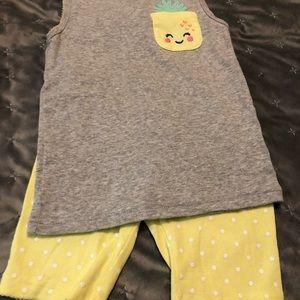 Sleeveless Shorts Pajama Set